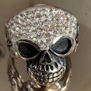Size 13 woman's skull ring